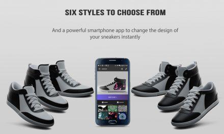 SwiftWear Sneakers: Cambia el diseño de tus zapatillas con tu Smartphone, y en tiempo real